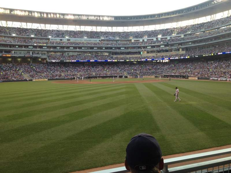Seating view for Target Field Section 130 Row 2 Seat 17