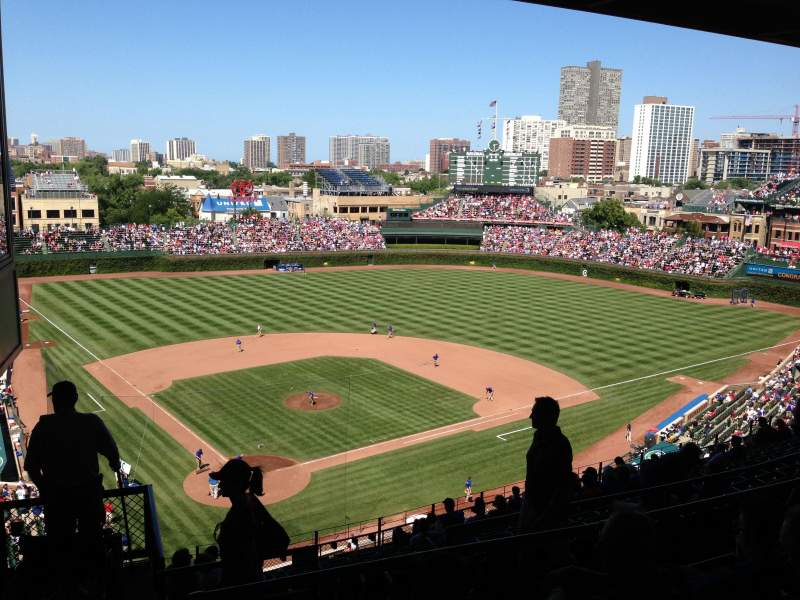 Seating view for Wrigley Field Section 420R Row 4 Seat 1