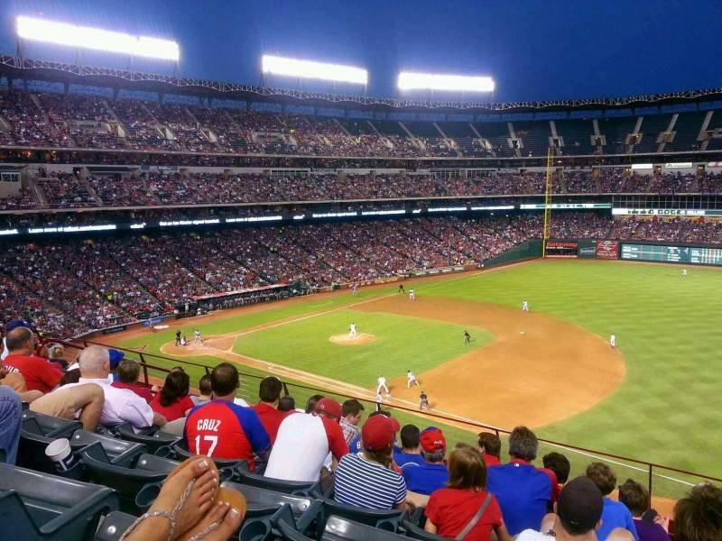 Seating view for Globe Life Park in Arlington Section 236 Row 7 Seat 11