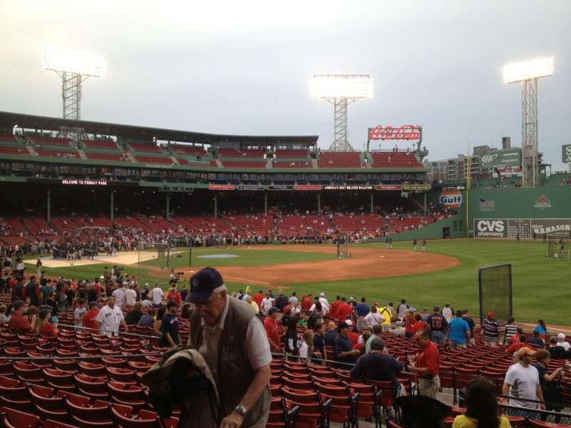 Seating view for Fenway Park Section Loge Box 98 Row MM Seat 5