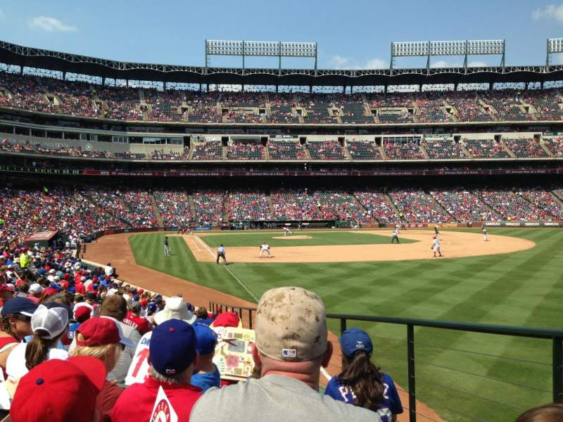 Seating view for Globe Life Park in Arlington Section 40 Row 16 Seat 13