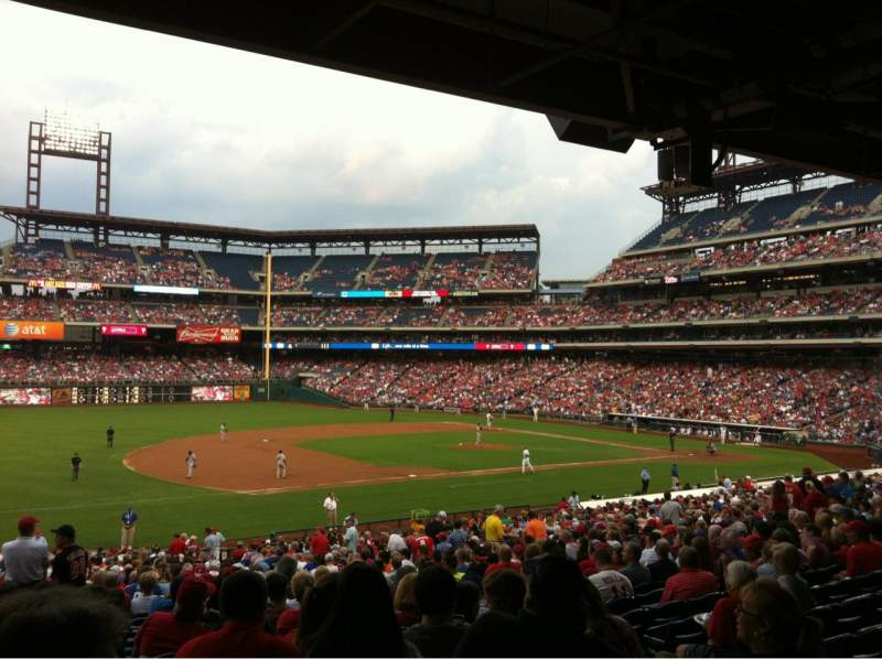 Seating view for Citizens Bank Park Section 134 Row 39 Seat 4