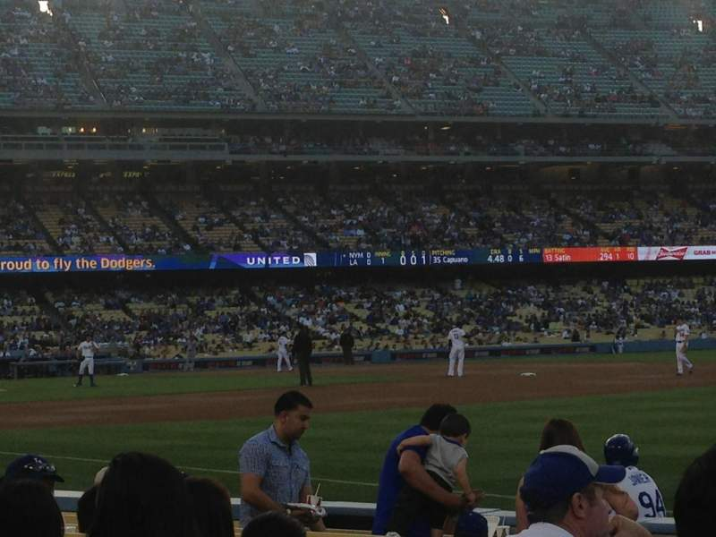 Seating view for Dodger Stadium Section 40FD Row A Seat 5