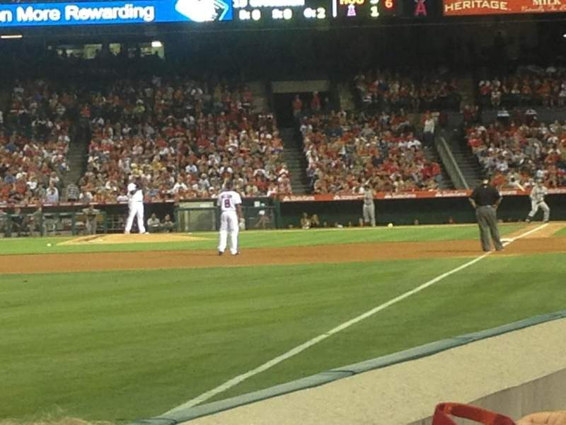 Seating view for Angel Stadium Section 104 Row B Seat 12