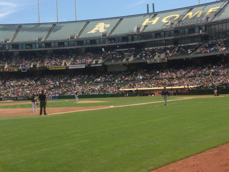 Seating view for Oakland Alameda Coliseum Section 126 Row 1 Seat 9