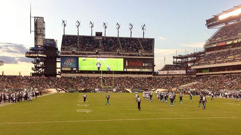 Seating view for Lincoln Financial Field Section 110 Row 3 Seat 26