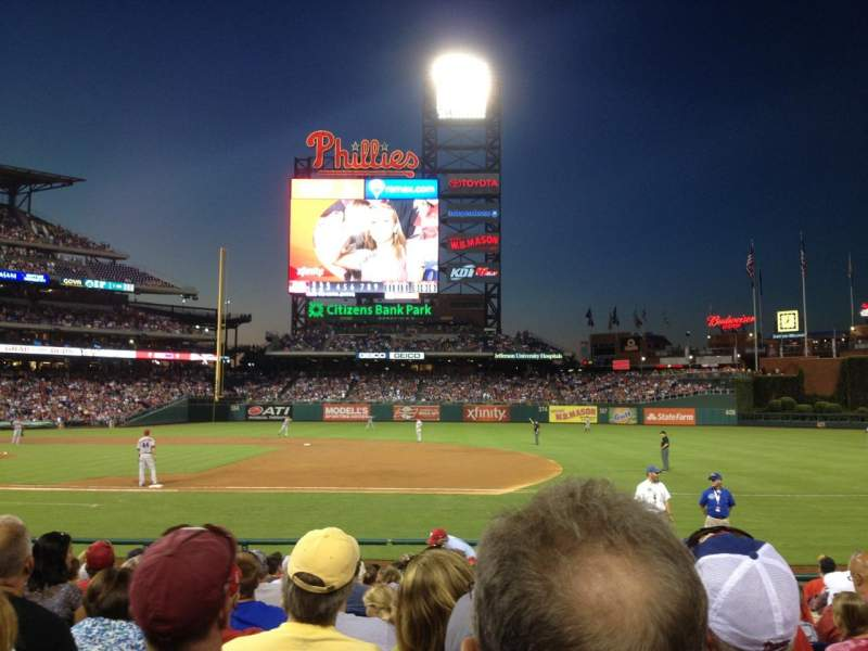 Seating view for Citizens Bank Park Section 115 Row 13 Seat 6