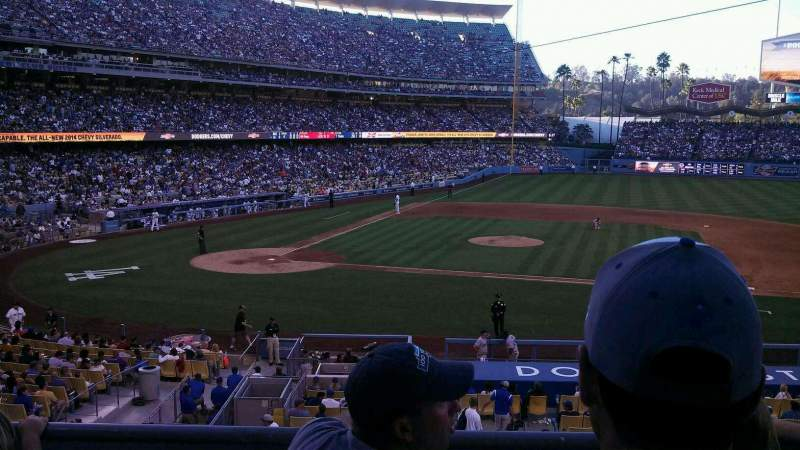 Seating view for Dodger Stadium Section 130LG Row c Seat 3