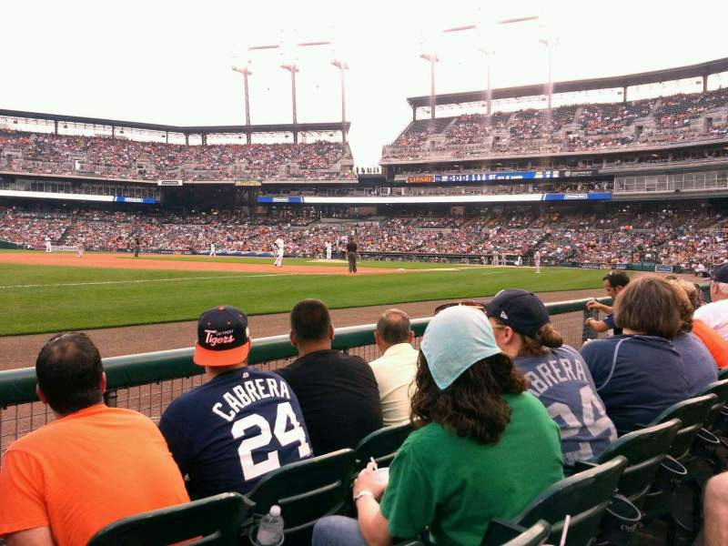 Seating view for Comerica Park Section 138 Row 3 Seat 14