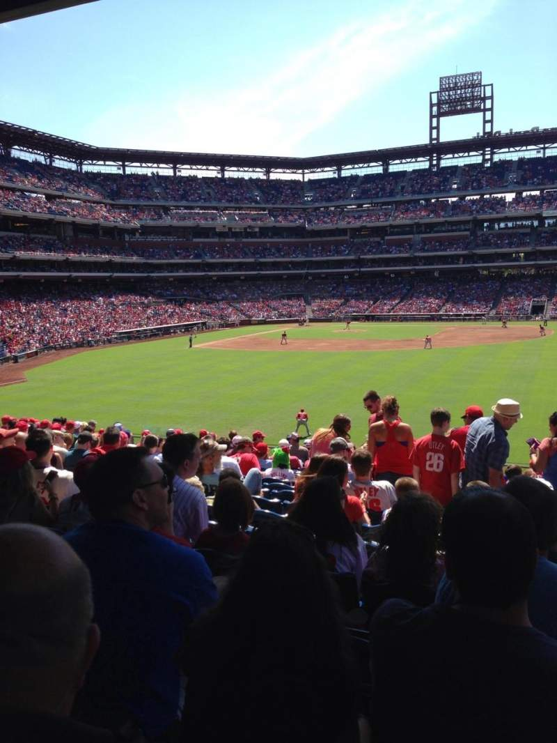 Seating view for Citizens Bank Park Section 103 Row 18 Seat 4