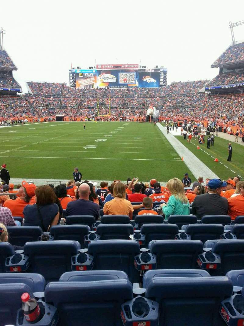 Seating view for Sports Authority Field at Mile High Section 112 Row 14 Seat 15