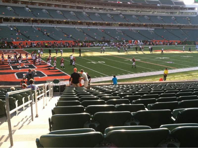 Seating view for Paul Brown Stadium Section 146 Row 15 Seat 22