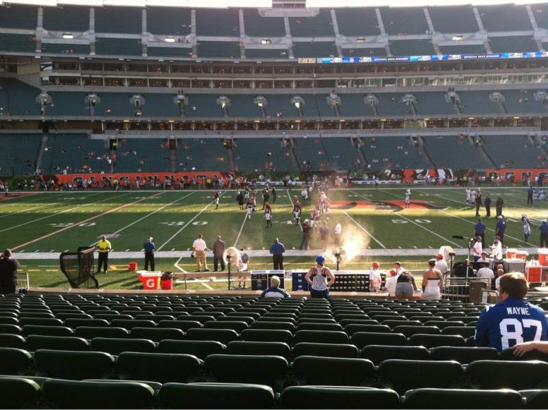 Seating view for Paul Brown Stadium Section 141 Row 16 Seat 7