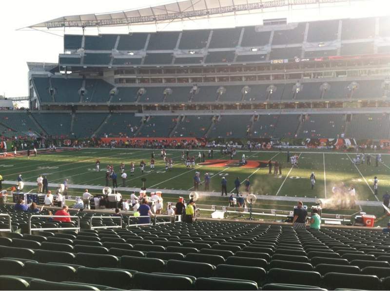 Seating view for Paul Brown Stadium Section 139 Row 23 Seat 13