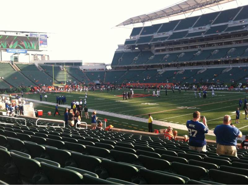 Seating view for Paul Brown Stadium Section 134 Row 23 Seat 13