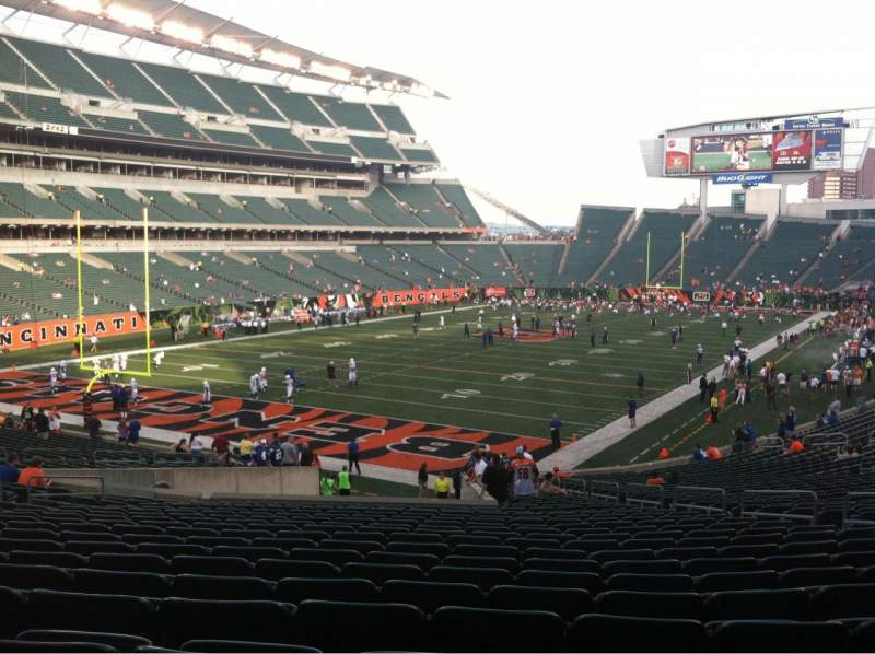 Seating view for Paul Brown Stadium Section 120 Row 35 Seat 10