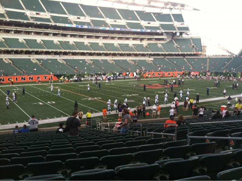 Seating view for Paul Brown Stadium Section 116 Row 21 Seat 5