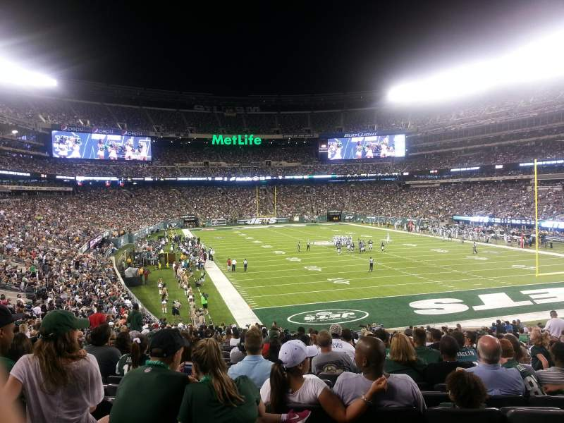 Seating view for Metlife Stadium Section 129 Row 35 Seat 13