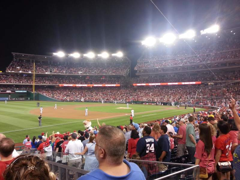 Seating view for Nationals Park Section 112 Row AA Seat 15
