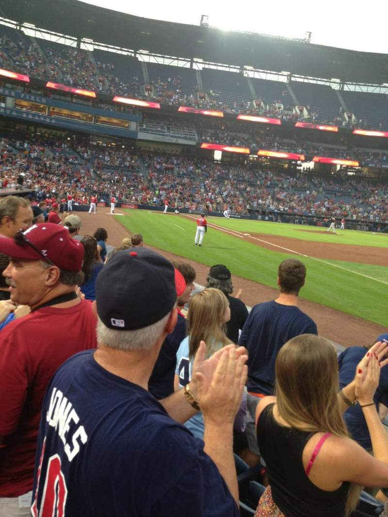 Seating view for Turner Field Section 121L Row 5 Seat 105