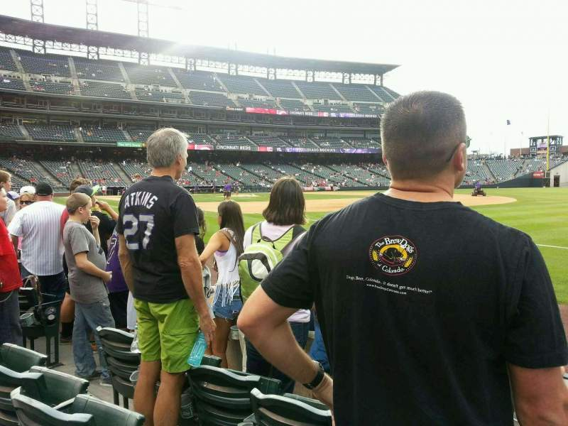 Seating view for Coors Field Section 117 Row 3 Seat 14