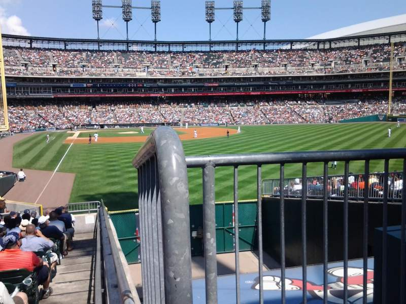 Seating view for Comerica Park Section 107 Row 37 Seat 1