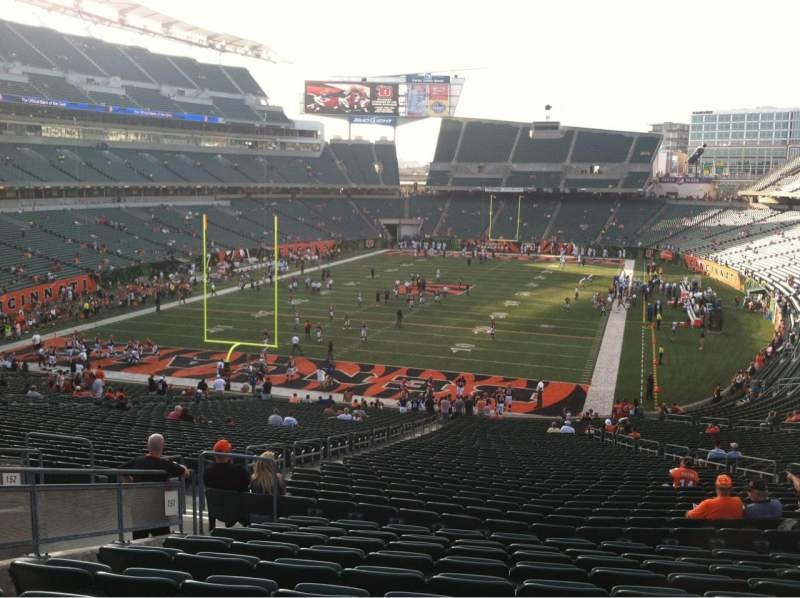 Seating view for Paul Brown Stadium Section 151 Row 50 Seat 13