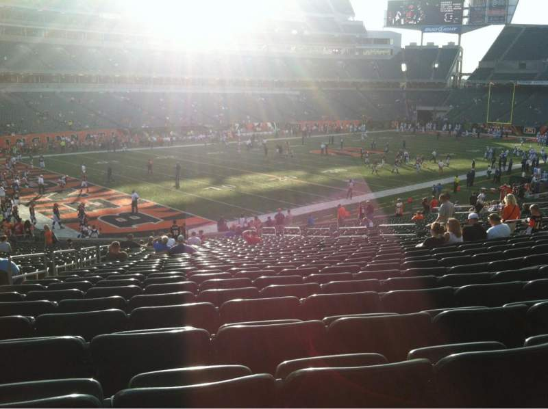 Seating view for Paul Brown Stadium Section 148 Row 33 Seat 19