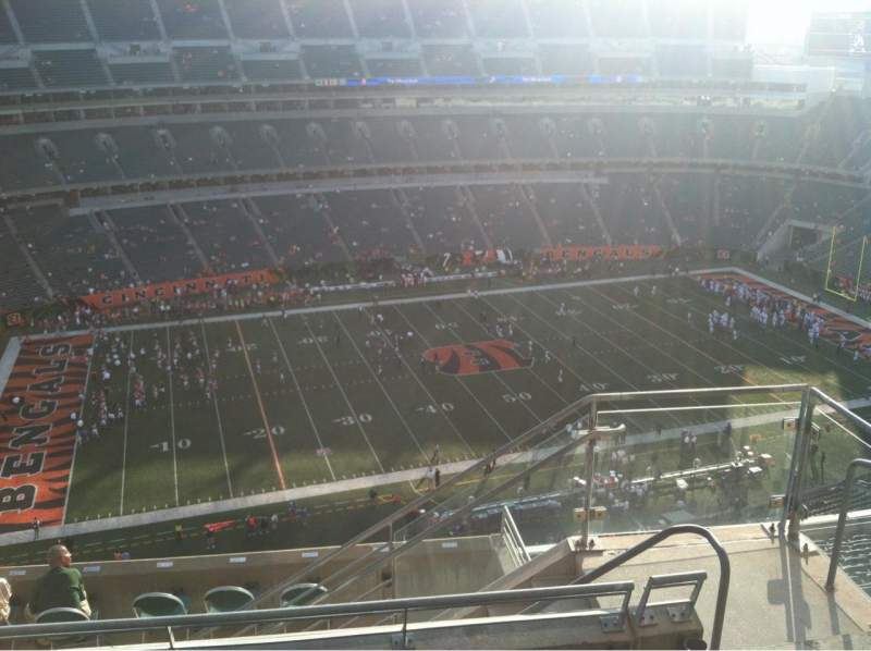 Seating view for Paul Brown Stadium Section 343 Row 16 Seat 4