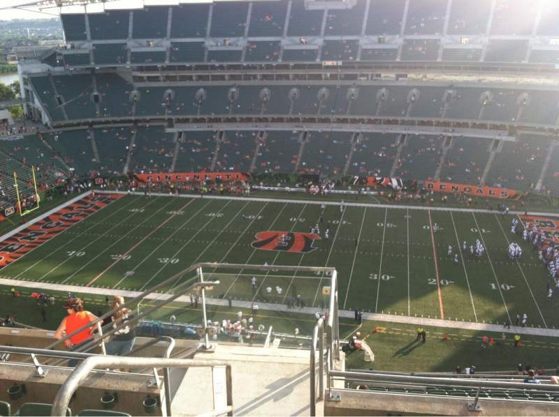 Seating view for Paul Brown Stadium Section 338 Row 17 Seat 4