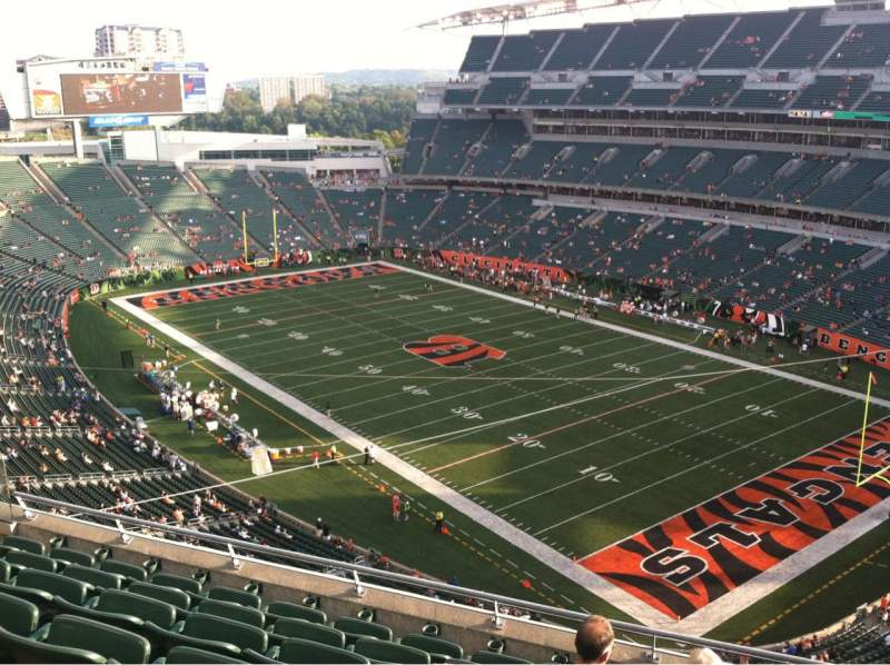 Seating view for Paul Brown Stadium Section 333 Row 7 Seat 4