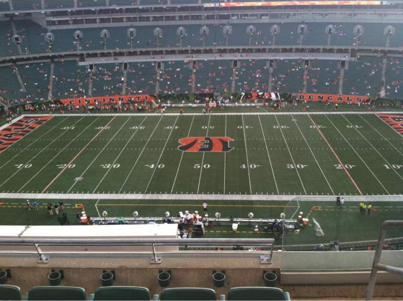 Seating view for Paul Brown Stadium Section 340 Row 4 Seat 1