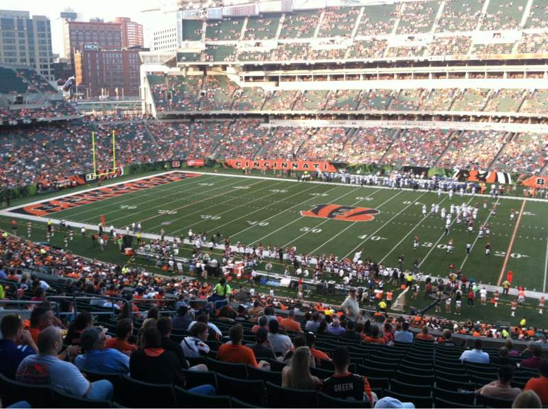 Seating view for Paul Brown Stadium Section 207 Row 19 Seat 6