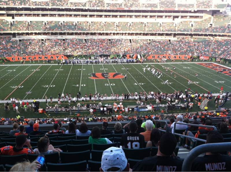 Seating view for Paul Brown Stadium Section 211 Row 12 Seat 3