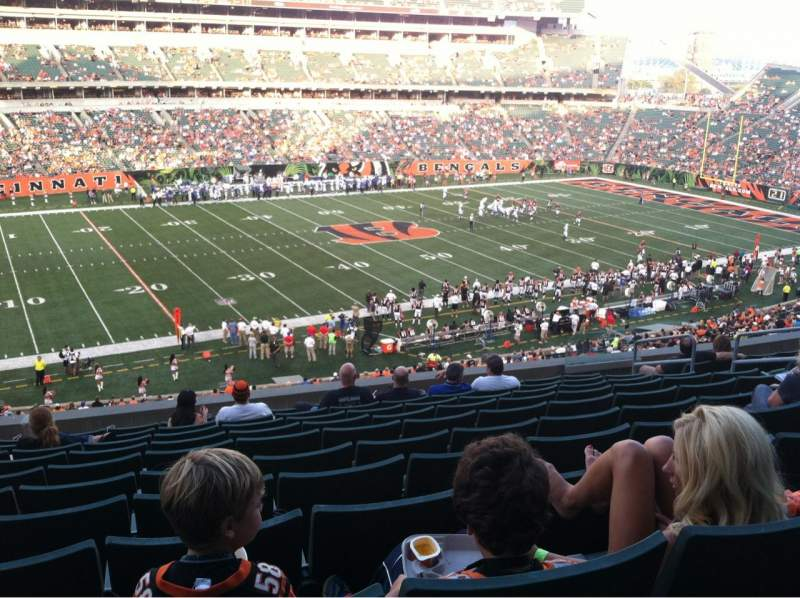 Seating view for Paul Brown Stadium Section 214 Row 13 Seat 10