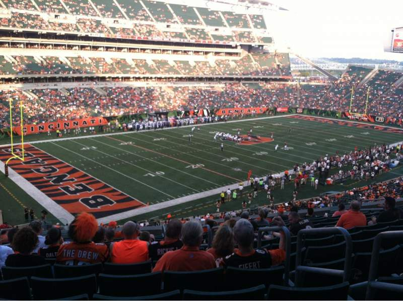 Seating view for Paul Brown Stadium Section 217 Row 12 Seat 15