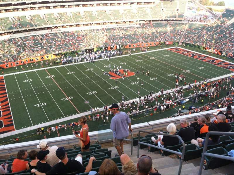 Seating view for Paul Brown Stadium Section 314 Row 10 Seat 3