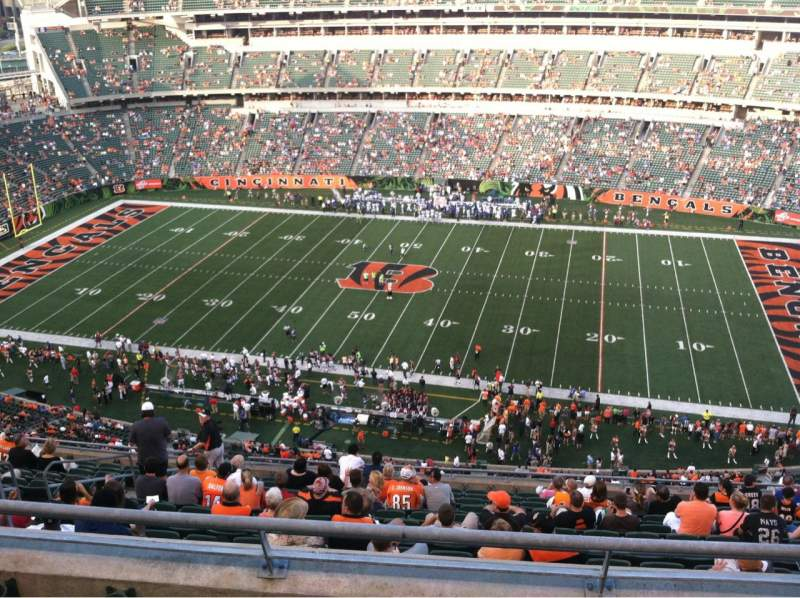 Seating view for Paul Brown Stadium Section 308 Row 15 Seat 12