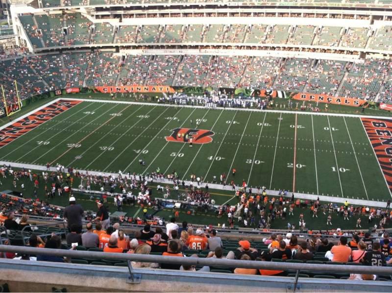 Paul Brown Stadium, section: 308, row: 15, seat: 12