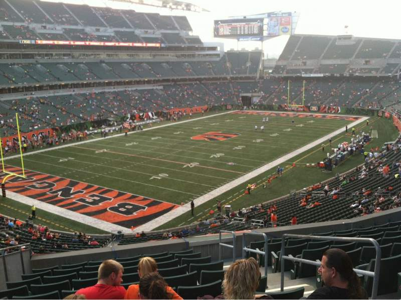 Seating view for Paul Brown Stadium Section 249 Row 11 Seat 3