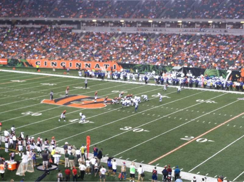 Seating view for Paul Brown Stadium Section 205 Row 5 Seat 1