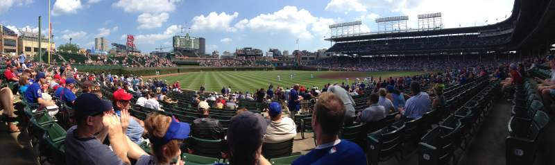 Seating view for Wrigley Field Section 106 Row 11 Seat 101
