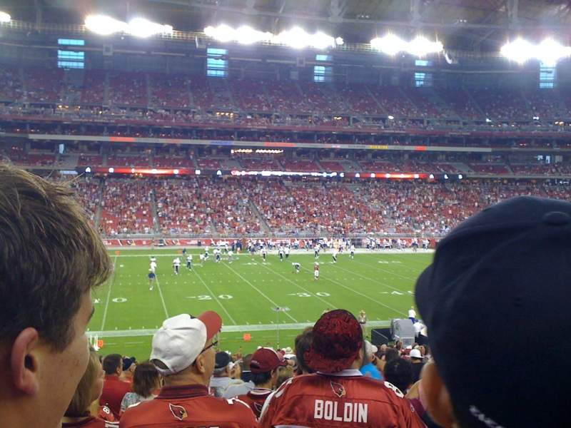 Seating view for University Of Phoenix Stadium Section 112 Row 25 Seat 9