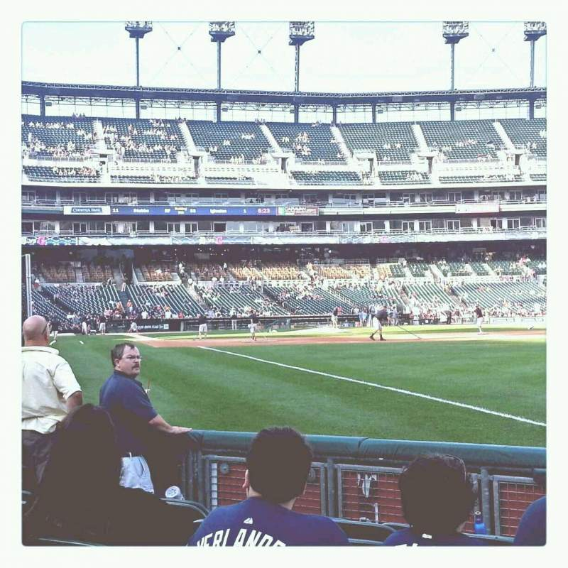 Seating view for Comerica Park Section 113 Row 7 Seat 17