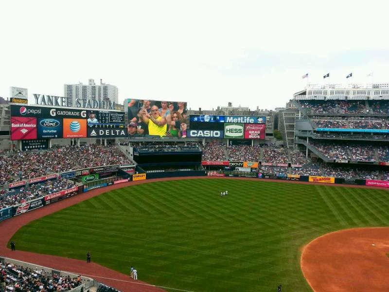 Seating view for Yankee Stadium Section 326 Row 1 Seat 22