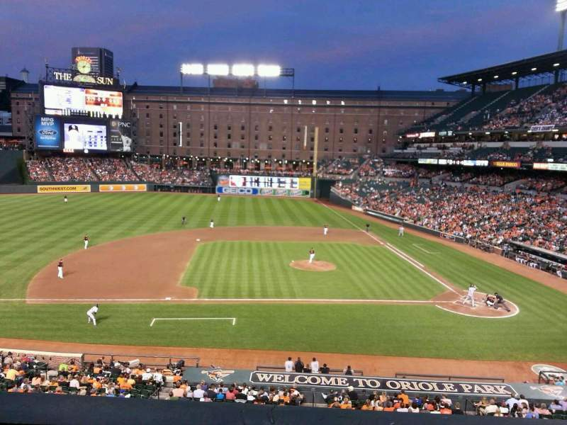 Seating view for Oriole Park at Camden Yards Section 248 Row 1 Seat 16
