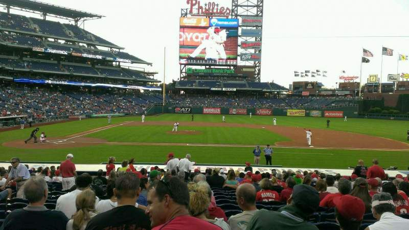 Seating view for Citizens Bank Park Section 117 Row 19 Seat 11