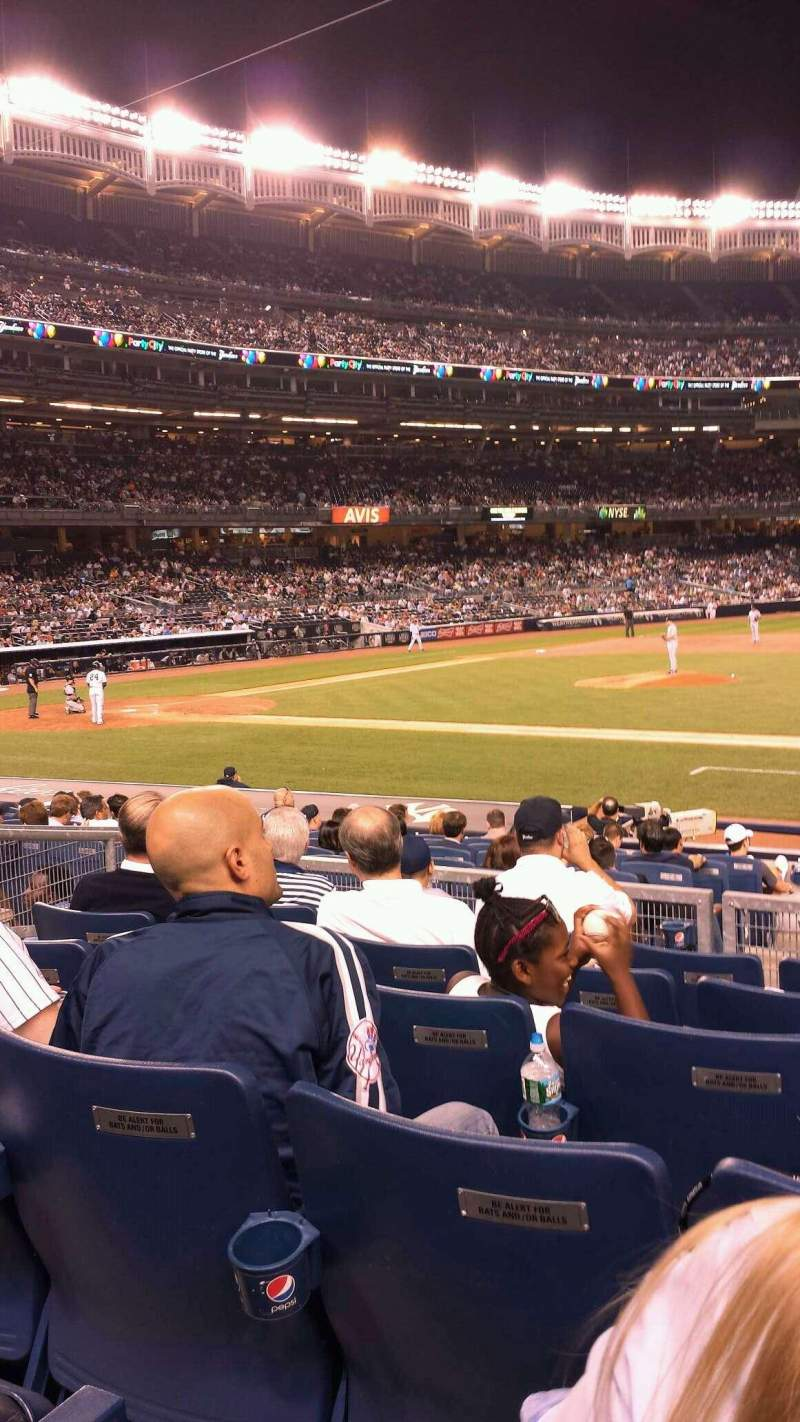 Seating view for Yankee Stadium Section 115 Row 17 Seat 6
