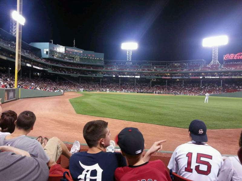 Seating view for Fenway Park Section Right Field Box 2 Row D Seat 3