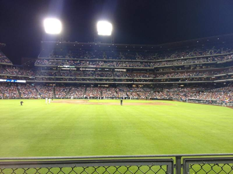 Seating view for Citizens Bank Park Section 143 Row 1 Seat 8
